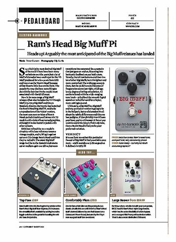 Guitarist Rams Head Big Muff Pi
