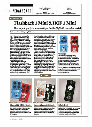 Guitarist tc electronic Hall Of Fame 2 Mini Reverb