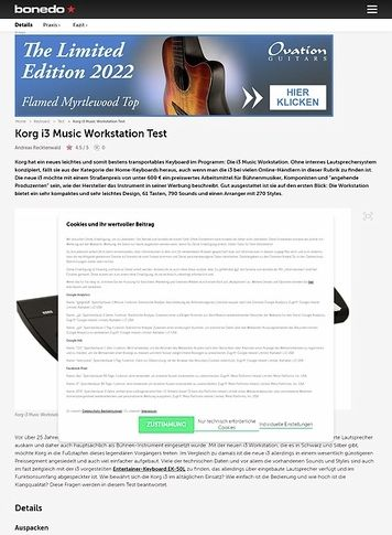 Bonedo.de Korg i3 Music Workstation