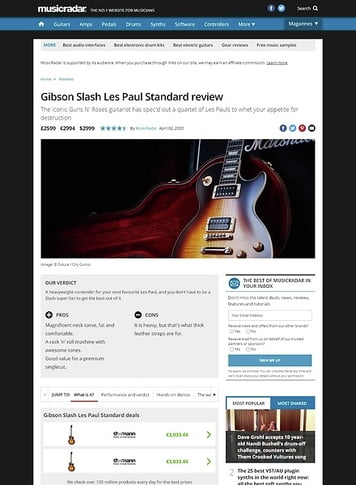MusicRadar.com Gibson Slash Les Paul Standard