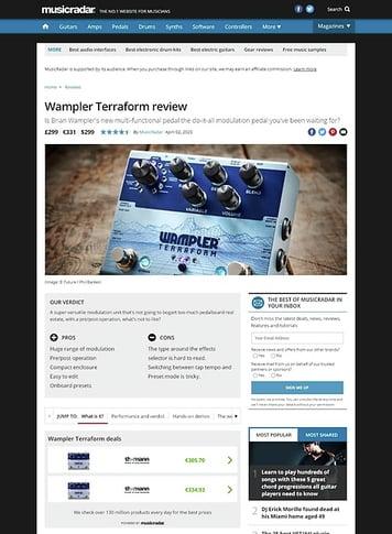 MusicRadar.com Wampler Terraform