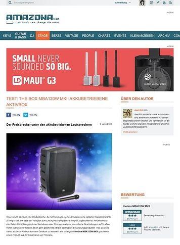 Amazona.de the box MBA120W MKII akkubetriebene Aktivbox