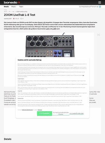 Bonedo.de ZOOM LiveTrak L-8