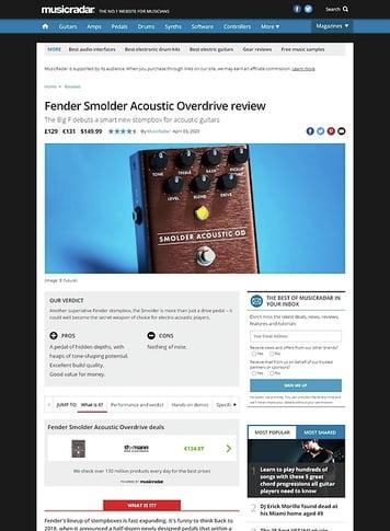 MusicRadar.com Fender Smolder Acoustic Overdrive