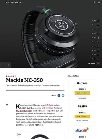 Kopfhoerer.de Mackie MC-350