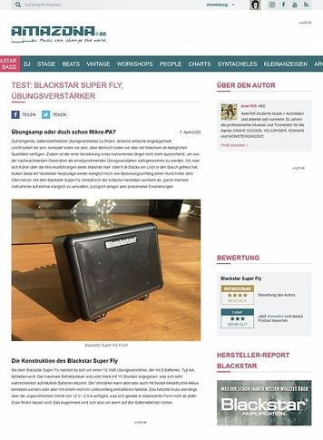 Amazona.de Blackstar Super FLY Bluetooth Combo