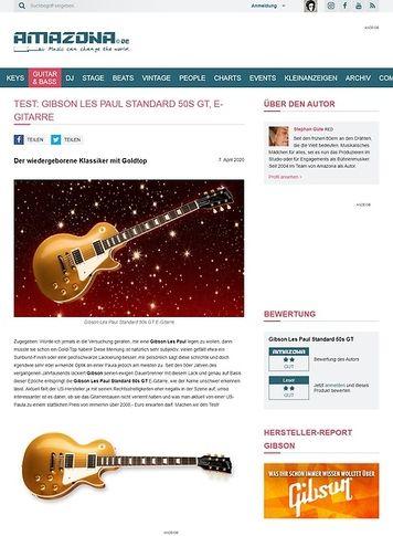Amazona.de Gibson Les Paul Standard 50s GT
