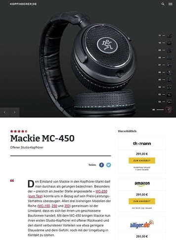 Kopfhoerer.de Mackie MC-450