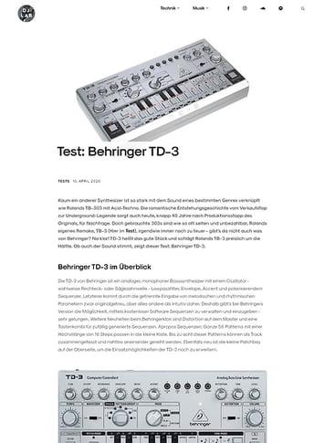 DJLAB Behringer TD-3