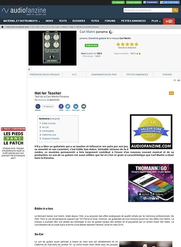 Audiofanzine.com Carl Martin panama