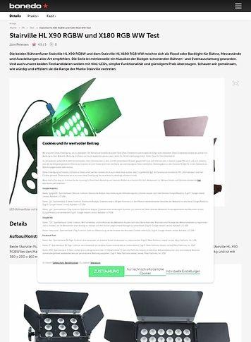 Bonedo.de Stairville HL X90 RGBW und X180 RGB WW