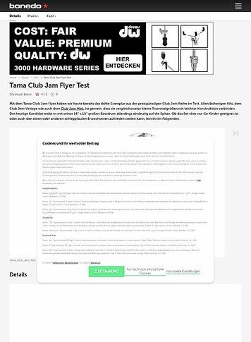 Bonedo.de Tama Club Jam Flyer