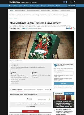MusicRadar.com KMA Audio Machines Logan Overdrive
