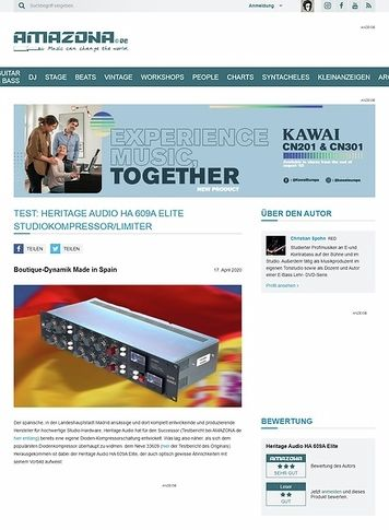 Amazona.de Heritage Audio HA 609A Elite Studiokompressor/Limiter