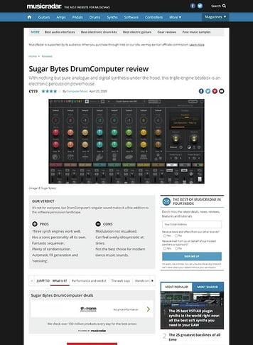 MusicRadar.com Sugar Bytes DrumComputer