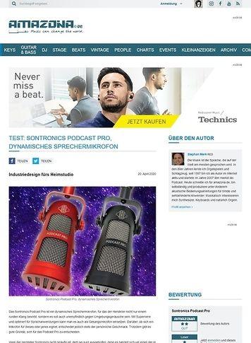 Amazona.de Sontronics Podcast Pro
