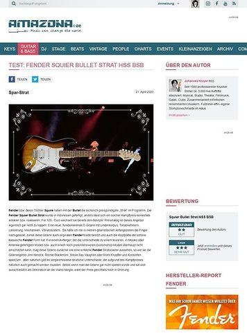 Amazona.de Fender Squier Bullet Strat HSS BSB