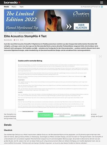 Bonedo.de Elite Acoustics StompMix 4