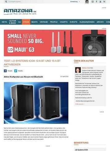 Amazona.de LD Systems ICOA 12 A BT und 15 A BT Aktivboxen