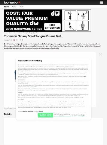 Bonedo.de Thomann Nataraj Steel Tongue Drums