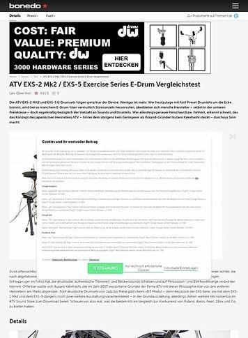 Bonedo.de ATV EXS-2 Mk2 / EXS-5 Exercise Series E-Drum Vergleichstest
