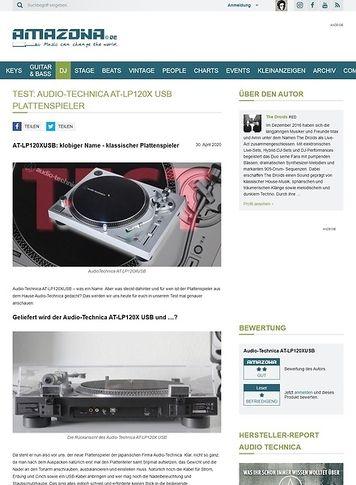 Amazona.de Audio-Technica AT-LP120XUSB Plattenspieler