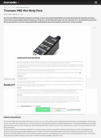 Bonedo.de Thomann MB2 Mini Body Pack