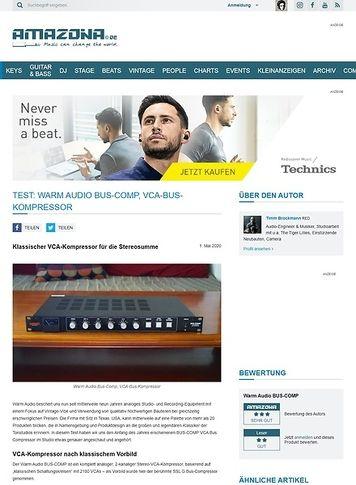 Amazona.de Warm Audio Bus-Comp