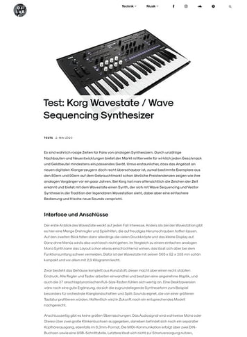 DJLAB Korg Wavestate / Wave Sequencing Synthesizer