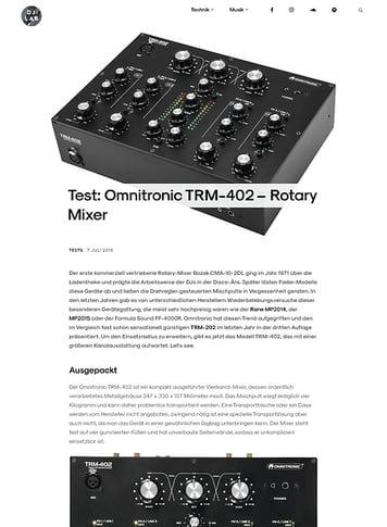 DJLAB Omnitronic TRM-402
