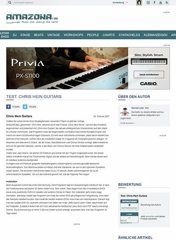 Amazona.de Test: Chris Hein Guitars