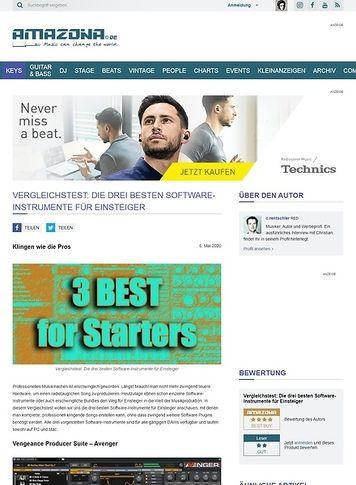Amazona.de Vergleichstest: Die drei besten Software-Instrumente für Einsteiger
