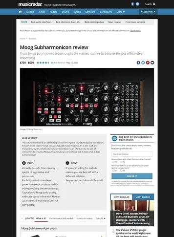MusicRadar.com Moog Subharmonicon