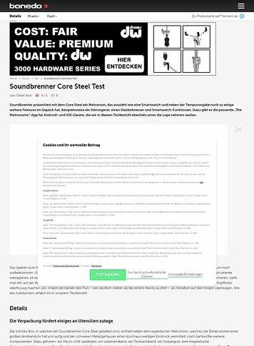 Bonedo.de Soundbrenner Core Steel