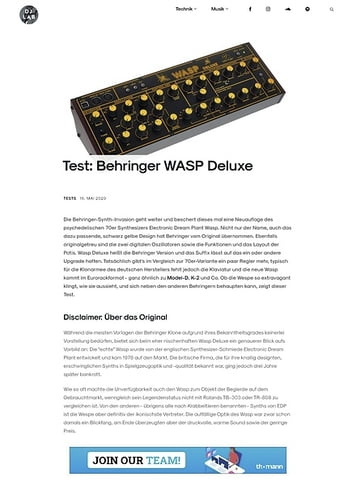 DJLAB Behringer WASP Deluxe