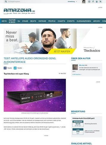 Amazona.de Antelope Audio Orion32HD gen3