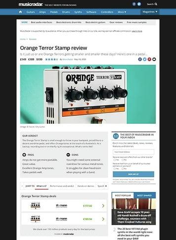 MusicRadar.com Orange Terror Stamp