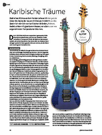Gitarre & Bass ESP LTD H-1001 FR QM VSHFD