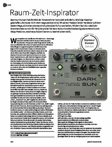 Gitarre & Bass Seymour Duncan Mark Holcomb Dark Sun Delay