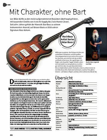 Gitarre & Bass RockBass Artist Series Sklar Bass I