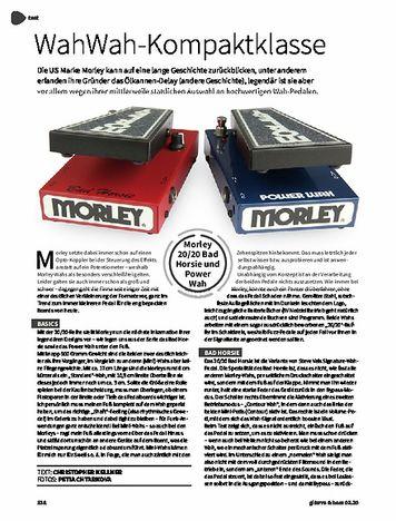 Gitarre & Bass Morley 20/20 Bad Horsie & Power Wah