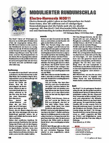 Gitarre & Bass Electro Harmonix Mod 11 Modulator