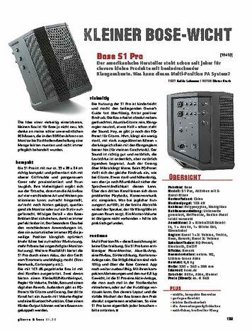 Gitarre & Bass Bose S1 Pro