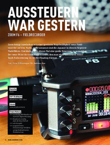 Sound & Recording Zoom F6