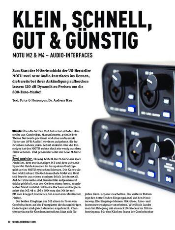 Sound & Recording MOTU M2 & M4