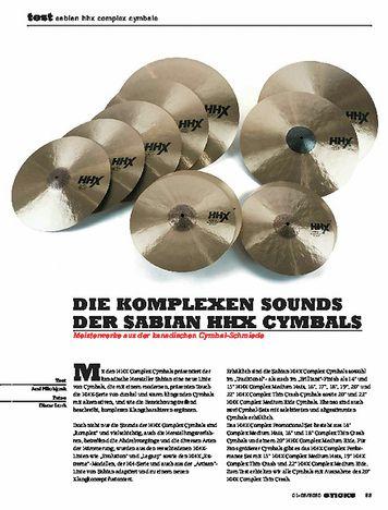 Sticks Sabian HHX Complex Cymbals