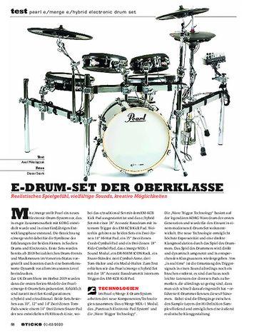 Sticks Pearl e/Merge EM-53HB e/Hybrid E-Drumset