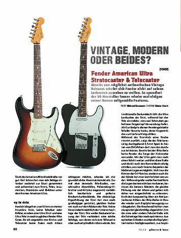 Gitarre & Bass Fender American Ultra Stratocaster & Telecaster, E-Gitarren