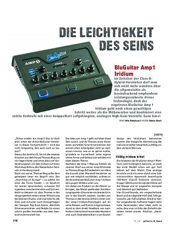 Gitarre & Bass BluGuitar Amp1 Iridium Edition