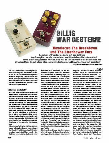 Gitarre & Bass Danelectro The Eisenhower Fuzz & The Breakdown